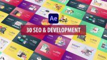 پروژه افترافکت مجموعه انیمیشن توسعه وب و سئو Seo and Development