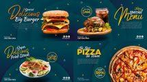 پروژه افترافکت تیزر تبلیغاتی غذا Short Food Promo Display