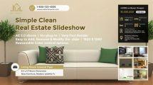 پروژه افترافکت اسلایدشو مشاور املاک Simple Clean Real Estate Slideshow