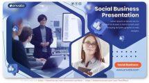 پروژه افترافکت پرزنتیش کسب و کار Social Business Presentation