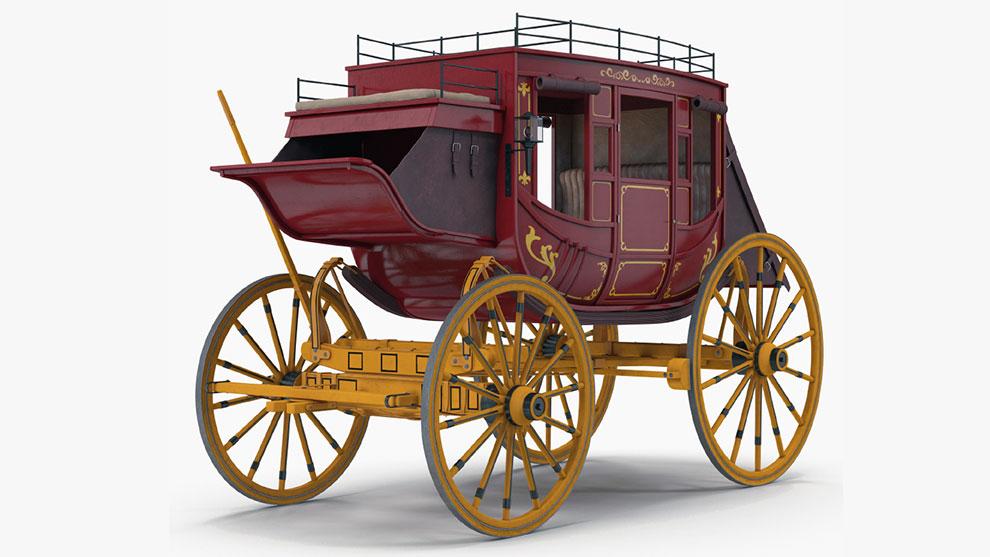 مدل سه بعدی کالسکه Stagecoach