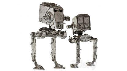 مدل سه بعدی ربات جنگنده جنگ ستارگان Star Wars AT-ST Walker