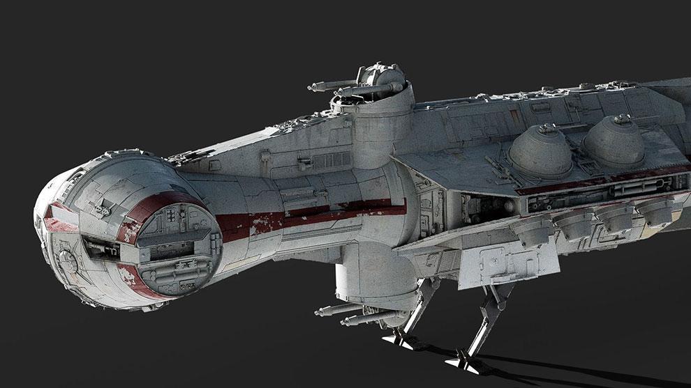 مدل سه بعدی فضاپیما Tantive IV Blockade Runner