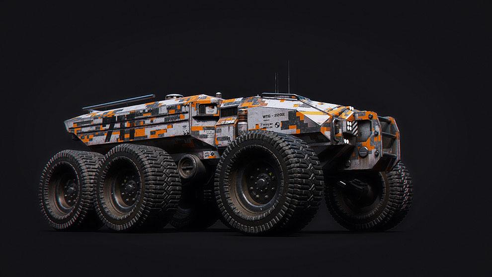 مدل سه بعدی وسیله نقلیه Sci-Fi Technical Transporter