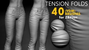 مجموعه براش زیبراش تای لباس Fabric Tension Folds