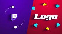 پروژه افترافکت نمایش لوگو پخش آنلاین Twitch Logo Reveal