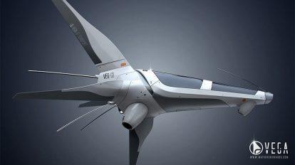 مدل سه بعدی فضاپیما VEG-03 Spaceship