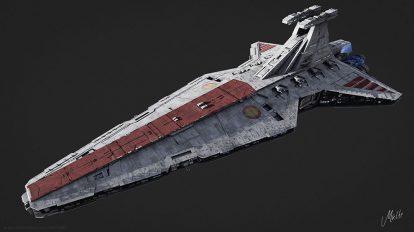 مدل سه بعدی فضاپیما Venator Class Star Destroyer