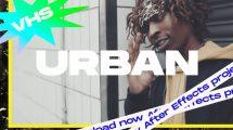 پروژه افترافکت افتتاحیه VHS Urban Intro