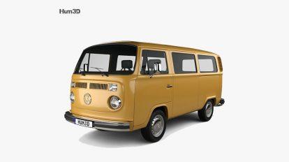 مدل سه بعدی ون فولکس واگن Vollkswagen Transporter T2