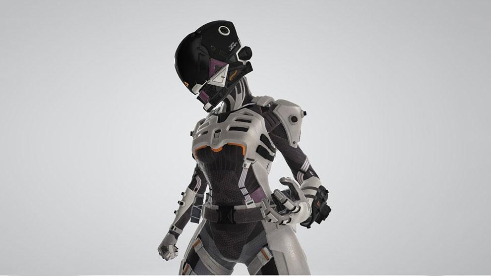 مدل سه بعدی کاراکتر سایبر نینجا Wraith Cyber Ninja Apex