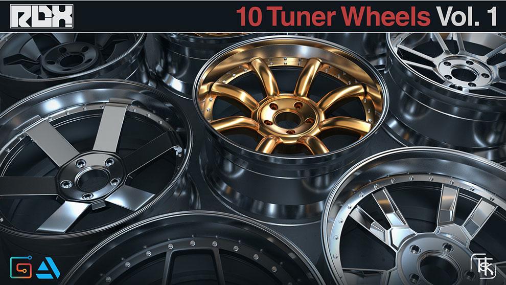 مجموعه مدل سه بعدی رینگ خودرو Wheels Rims Models
