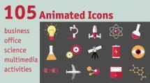 پروژه افترافکت مجموعه انیمیشن آیکون Animated Icons