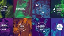 پروژه افترافکت نمایش نقل قول در اینستاگرام Quotes Titles Instagram Pack