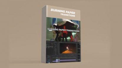 مجموعه فوتیج ترانزیشن سوختن کاغذ Burning Paper Transitions