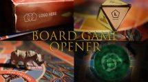 پروژه افترافکت نمایش لوگو روی بازی تخته ای Adventure Board Game