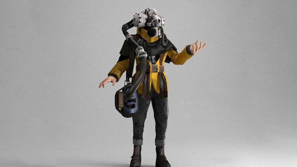 مدل سه بعدی کاراکتر تخیلی Air Priest Sci-Fi Character