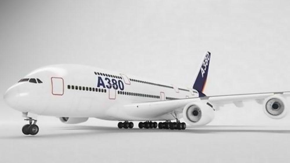 مدل سه بعدی هواپیما ایرباس Airbus A380