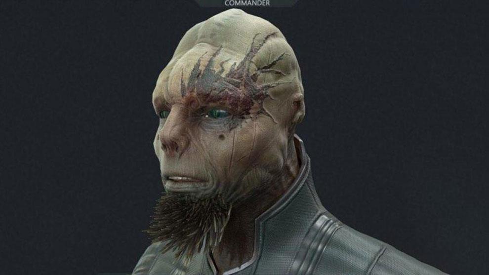 مدل سه بعدی کاراکتر موجود بیگانه Alien Commander
