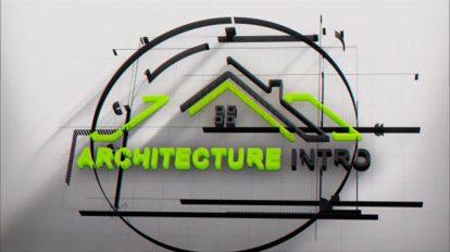 پروژه افترافکت نمایش لوگو معماری Architect Logo Intro