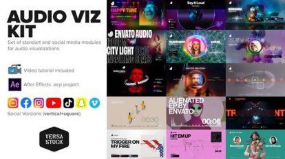 پروژه افترافکت مجموعه ویژوالایزر موزیک Audio Visualization Kit