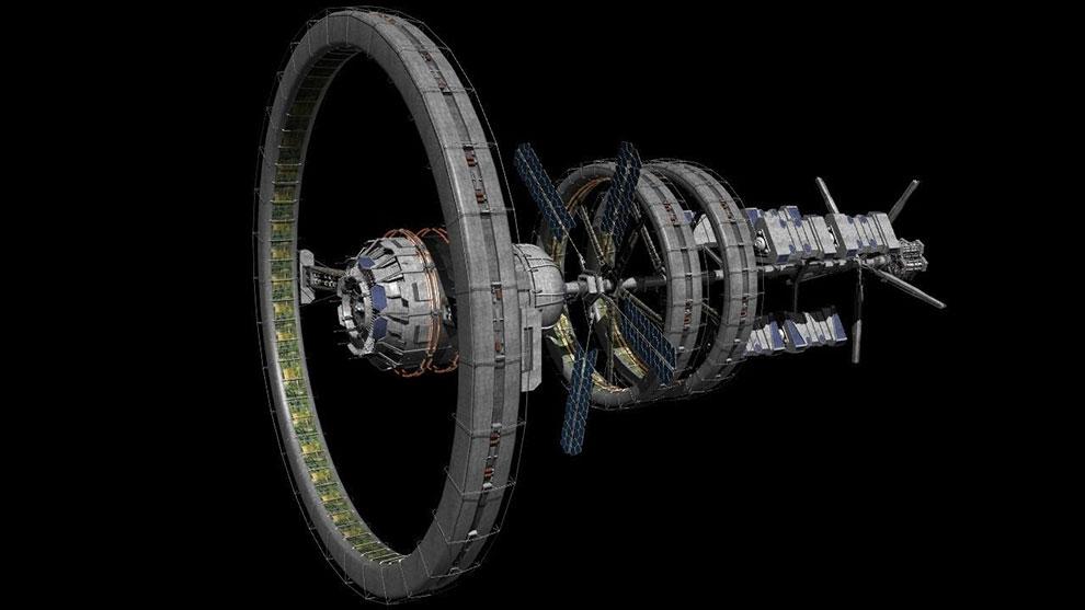 مدل سه بعدی ایستگاه فضایی Babbage Station