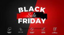 پروژه افترافکت تیزر تبلیغاتی فروش ویژه Black Friday Commercial
