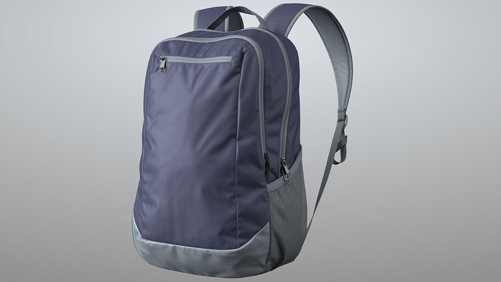 مدل سه بعدی کیف کوله Blue Backpack