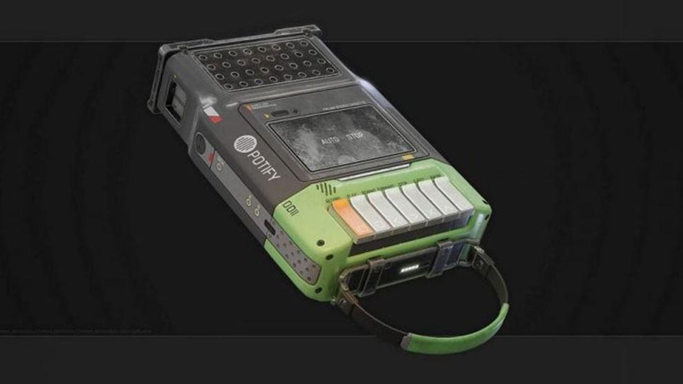 مدل سه بعدی پخش کننده نوار کاست Cassette Player Potify Props