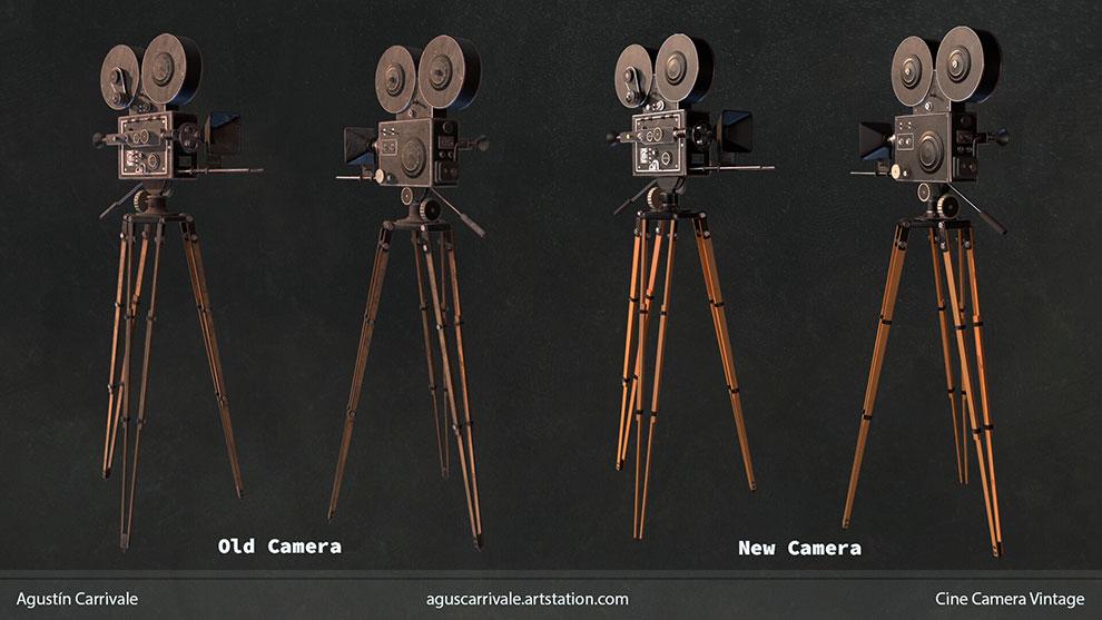 مدل سه بعدی دوربین قدیمی Cine Camera Vintage