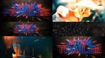 پروژه افترافکت تریلر سینمایی Cinematic Neon Trailer Teaser