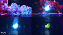 پروژه افترافکت نمایش لوگو با انفجار دود رنگی Color Smoke Explosion Logo
