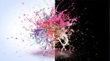 پروژه افترافکت نمایش لوگو با پاشیدن رنگ Colorful Paint Logo Reveal