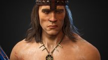 مدل سه بعدی کاراکتر جنگجو مرد Conan The Destroyer