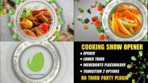 پروژه افترافکت اینترو ویژه برنامه غذا Cooking Show Opener Trailer