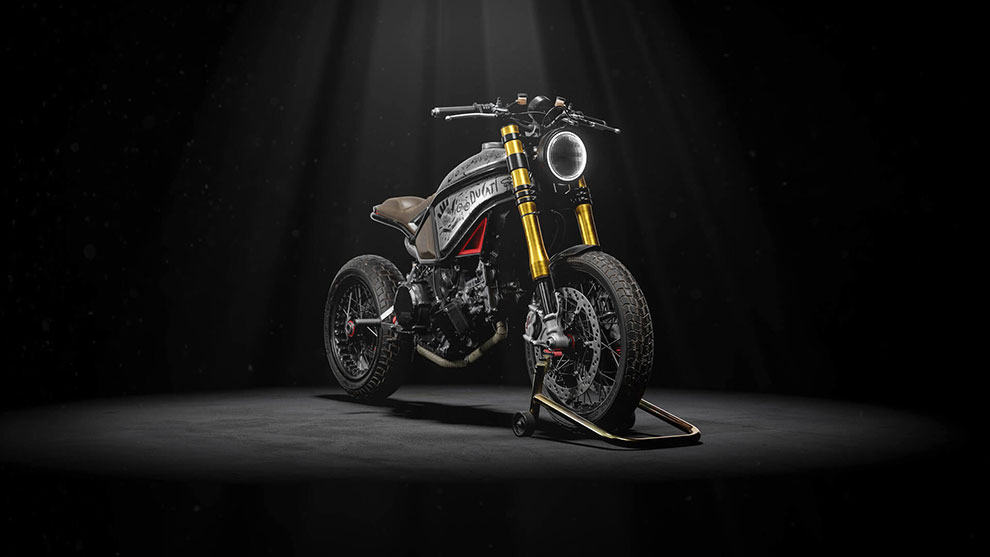 مدل سه بعدی موتورسیکلت دوکاتی Custom Ducati Scrambler