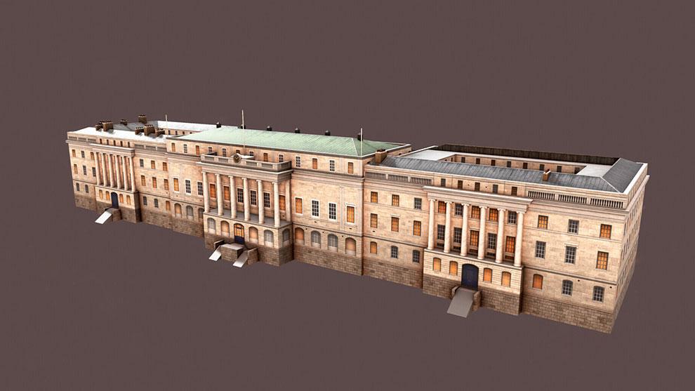 مدل سه بعدی خانه مسکونی Custom House