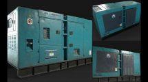 مدل سه بعدی ژنراتور دیزلی Industrial Diesel Generator
