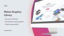 پروژه افترافکت نمایش وبسایت روی صفحه نمایش Display Web Promo