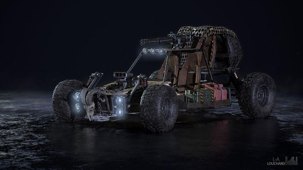 مدل سه بعدی خودرو تپه نورد Dune Buggy