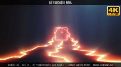 پروژه افترافکت نمایش لوگو با زلزله Earthquake Logo Reveal