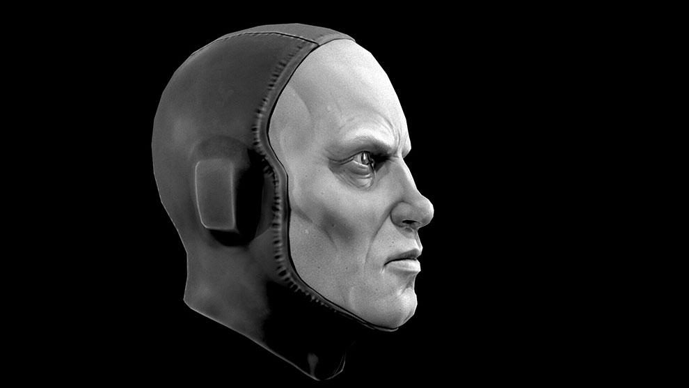 مدل سه بعدی سر کاراکتر تخیلی Elder Scribe Sculpt