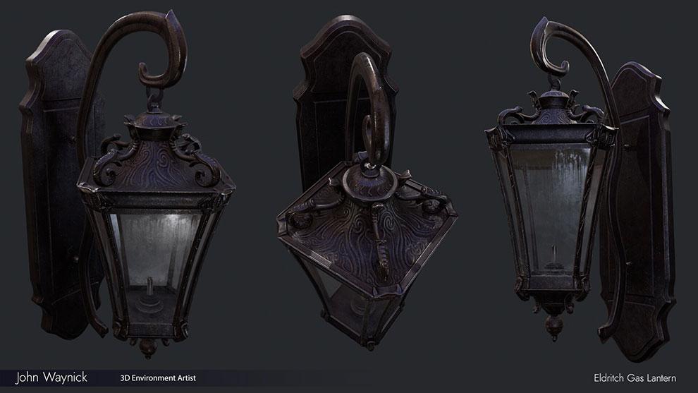 مدل سه بعدی فانوس گازی Eldritch Gas Lantern