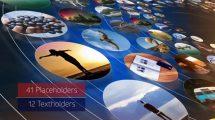 پروژه افترافکت افتتاحیه با نمایش دایره ای تصاویر Elegant Circle Opener