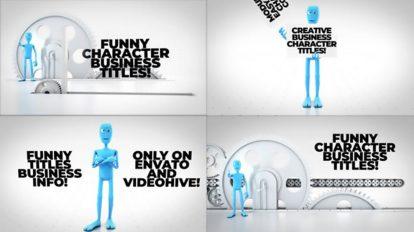 پروژه پریمیر نمایش عناوین با کاراکتر Funny Character Titles Bundle
