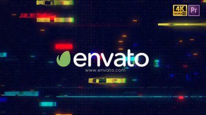 پروژه پریمیر نمایش لوگو با افکت گلیچ Glitch Logo Intro Pro