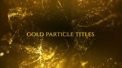 پروژه افترافکت نمایش عناوین با ذرات پارتیکلی Gold Particle Titles