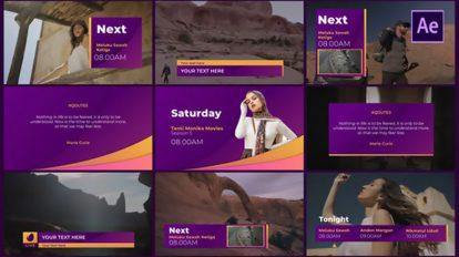 پروژه افترافکت برودکست تلویزیونی Gradient Broadcast Package