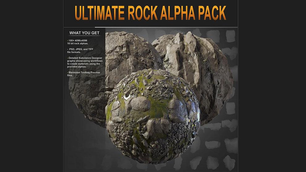 مجموعه تصاویر آلفا سنگ Ultimate Rock Alpha Pack