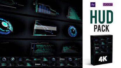 پروژه افترافکت مجموعه اجزای صفحه نمایش پیشرفته HUD Pack